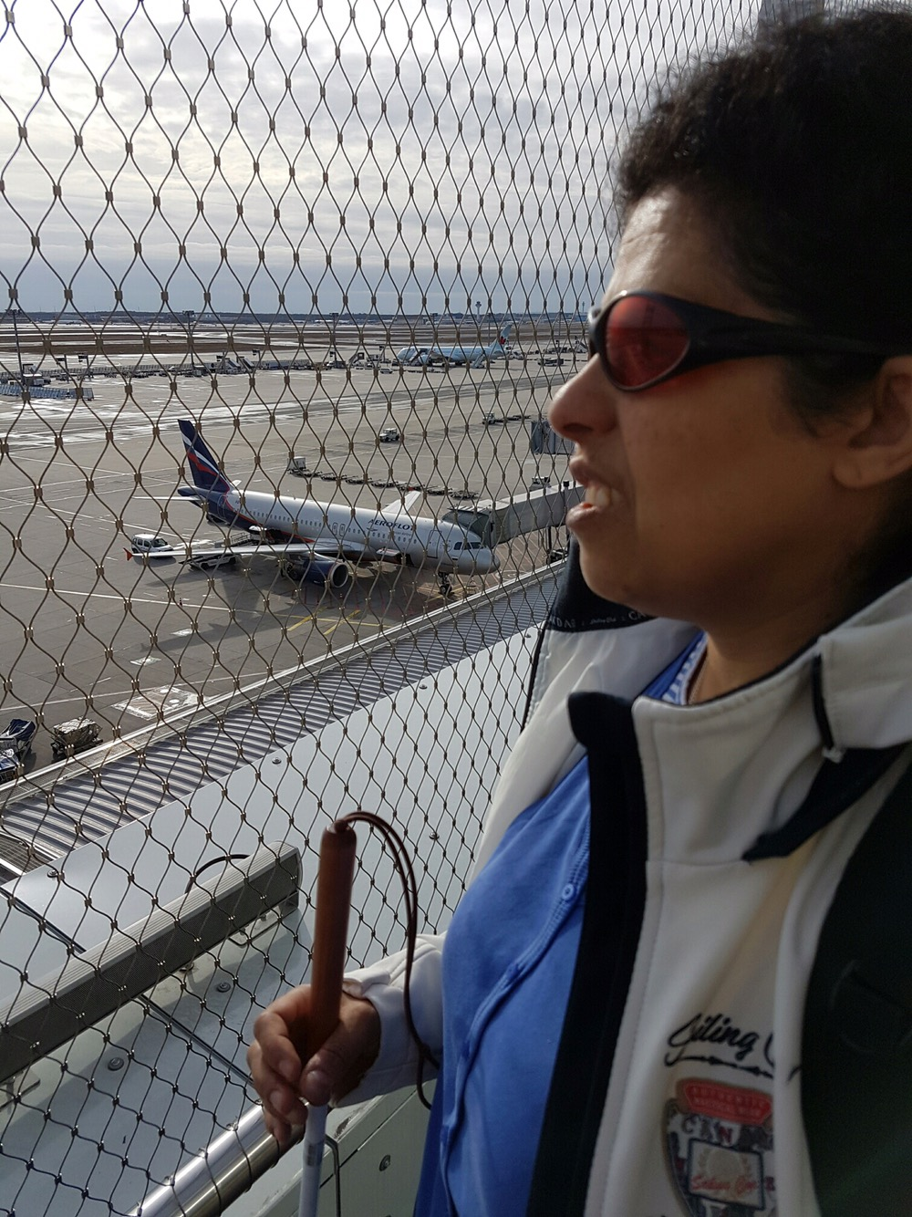 Lydia auf dem Frankfurter Flughafen