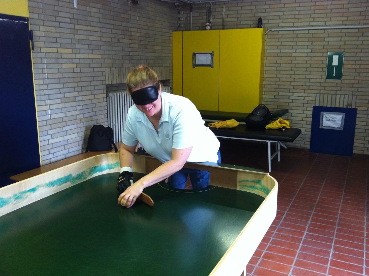 Showdown, Sport für Blinde undSehende