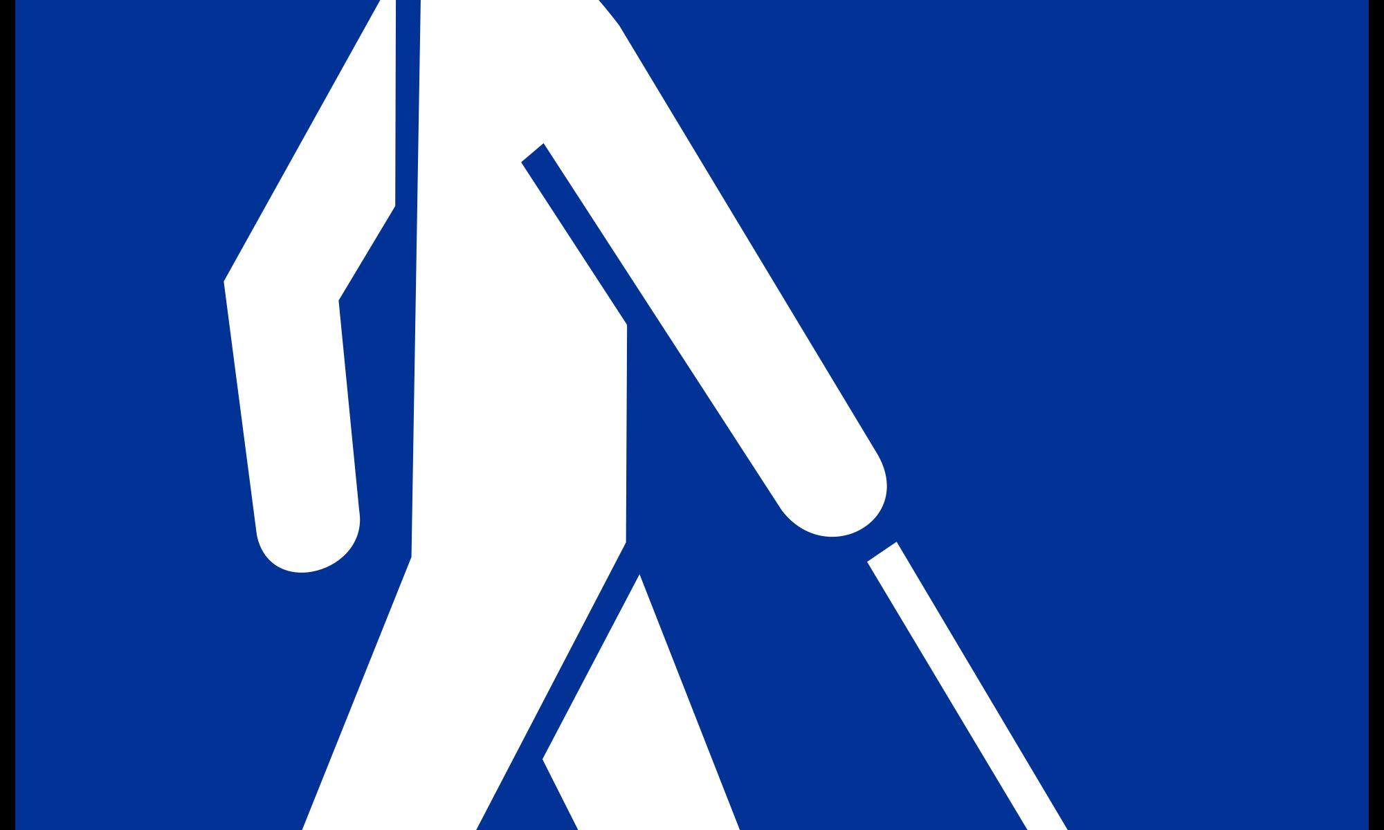 Strichmännchen mit Blindenstock