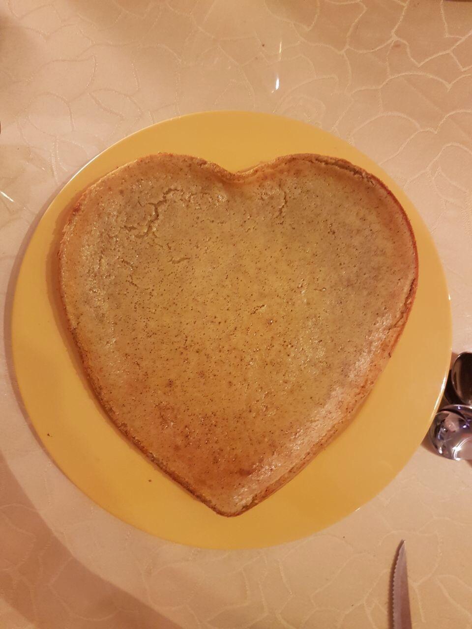 Käsekuchen in Herzform