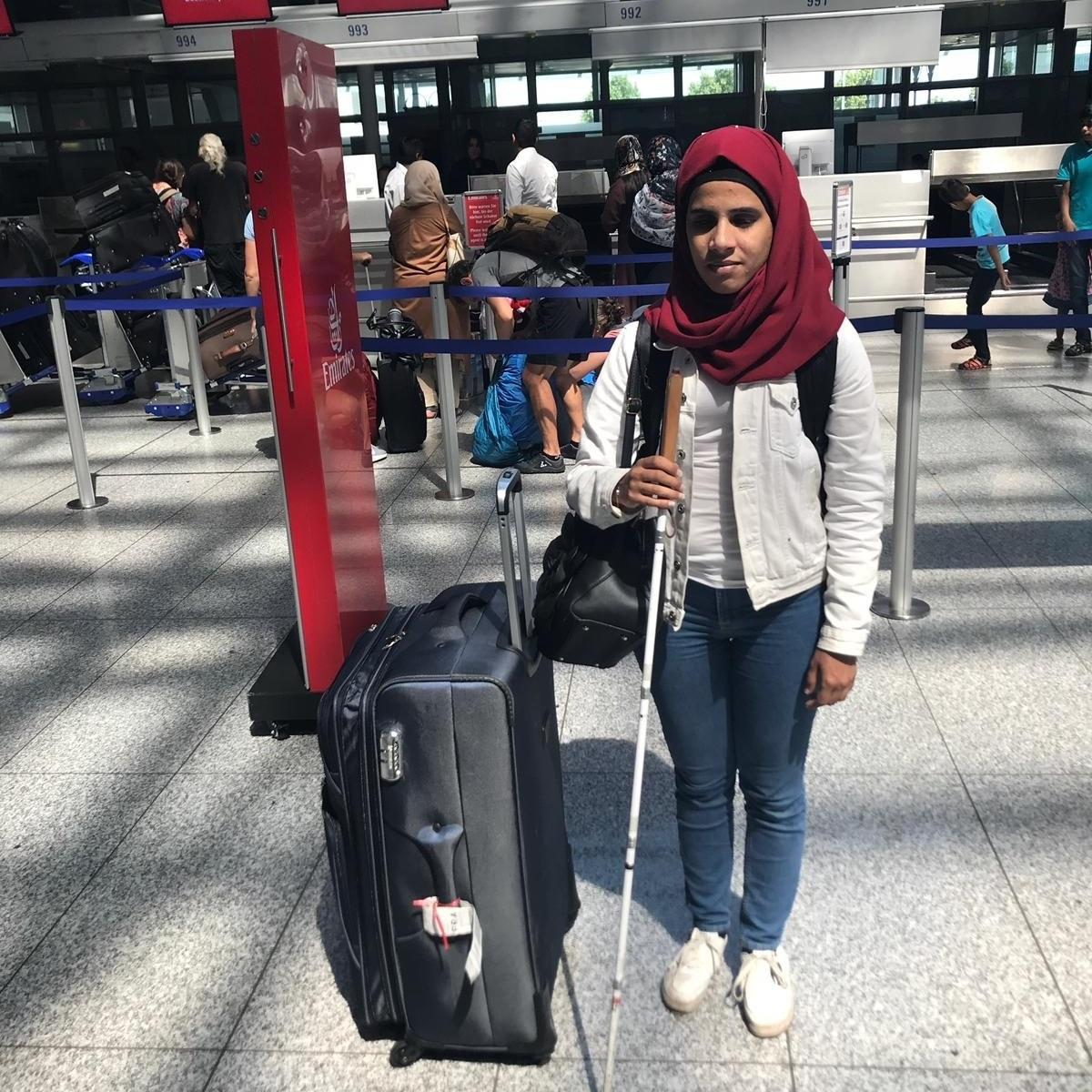 Amal vor dem Rückflug